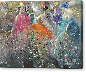 Dance Of The Muses Canvas Print by Annael Anelia Pavlova