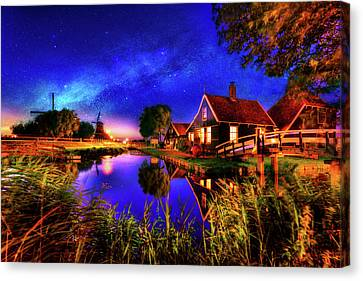 Dance Of The Night Canvas Print