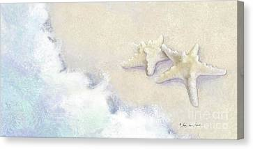 Canvas Print featuring the painting Dance Of The Sea - Knobby Starfish Impressionstic by Audrey Jeanne Roberts