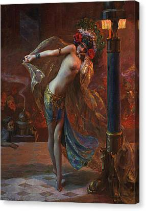 Dance Of The Seven Veils Canvas Print by Mountain Dreams