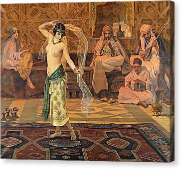 Dance Of The Seven Veils Canvas Print by Otto Pilny