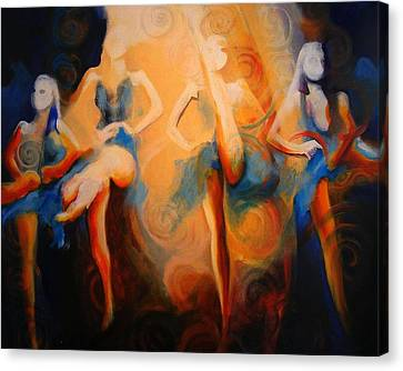 Faries Canvas Print - Dance Of The Sidheog by Georg Douglas