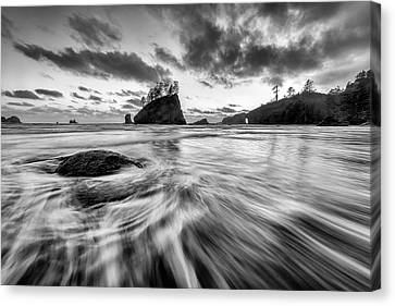 Canvas Print featuring the photograph Dance Of The Tides by Mike Lang