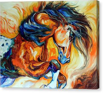 Dance Of The Wild One Canvas Print by Marcia Baldwin