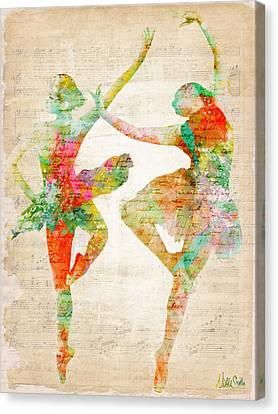 Melody Canvas Print - Dance With Me by Nikki Smith