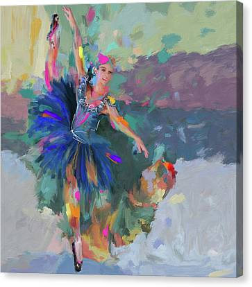 Dancer 281 1 Canvas Print by Mawra Tahreem