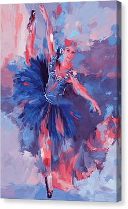 Dancer 281 3 Canvas Print by Mawra Tahreem