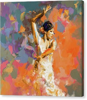 Dancer 283 1 Canvas Print by Mawra Tahreem