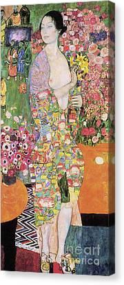 Dancer Canvas Print by Gustav Klimt
