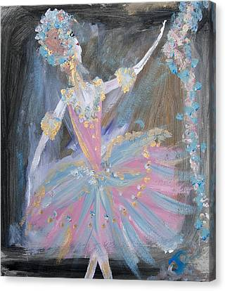 Dancer In Pink Tutu Canvas Print