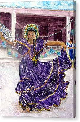Dancer In Purple Canvas Print