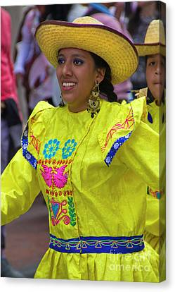 Dancer In The Pase Del Nino Parade Iv Canvas Print by Al Bourassa