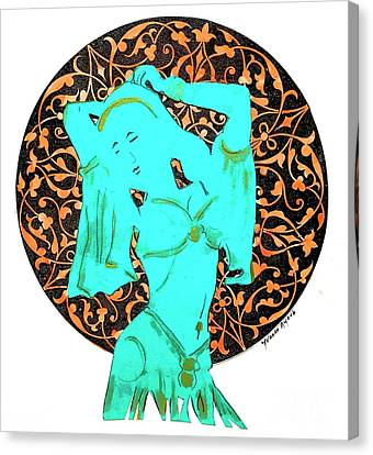 Dancer In Turquoise 01 Canvas Print
