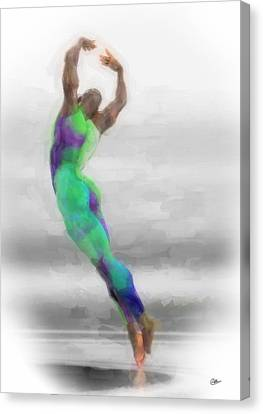 Dancer In Watercolours Canvas Print by Quim Abella
