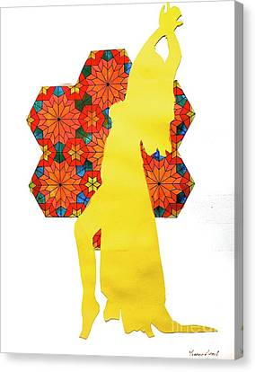 Dancer In Yellow Canvas Print