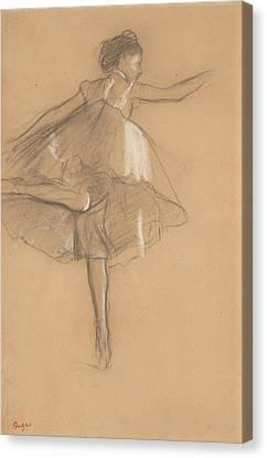 Dancer On Pointe Canvas Print by Edgar Degas
