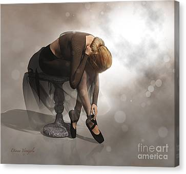 Dancer Resting Canvas Print