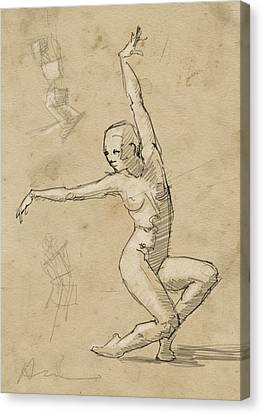 Dancer Study Canvas Print by H James Hoff