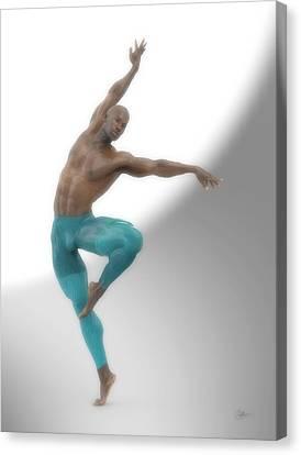 Dancer With Blue Leotard Canvas Print