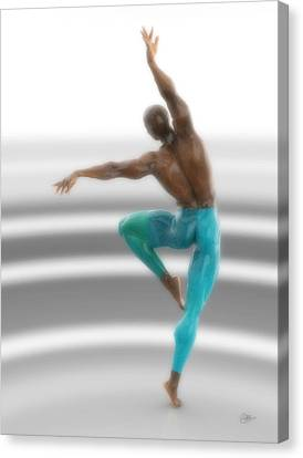 Dancer With Blue Leotards Canvas Print by Joaquin Abella