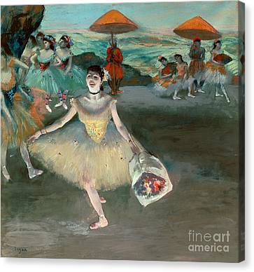 Dancer With Bouquet Canvas Print by Edgar Degas