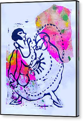Dancer With Cord Canvas Print