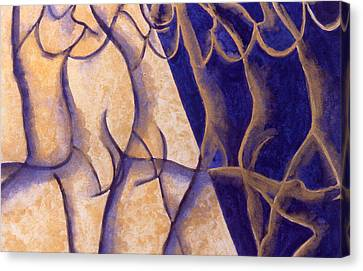 Dancers - Study 12 Canvas Print by Caron Sloan Zuger
