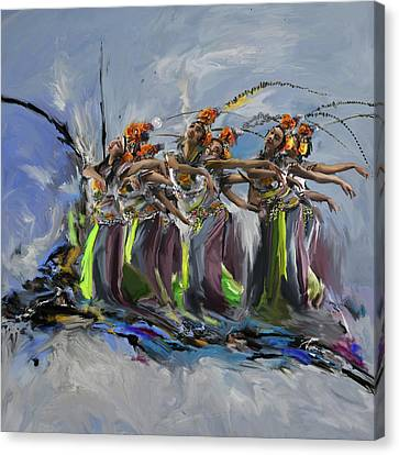 Dancers 264 2 Canvas Print by Mawra Tahreem
