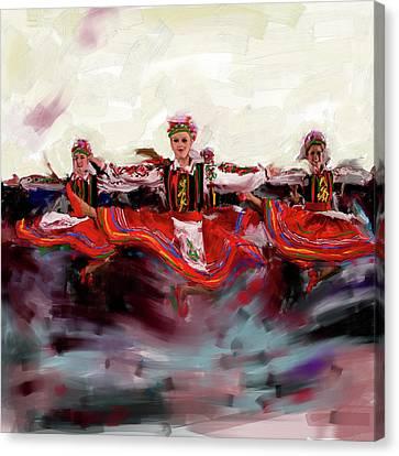 Dancers 268 2 Canvas Print by Mawra Tahreem