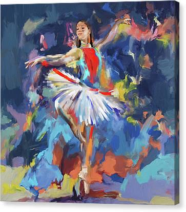 Dancers 279 1 Canvas Print by Mawra Tahreem