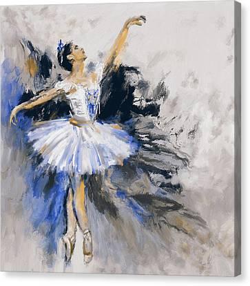 Dancers 279 3 Canvas Print by Mawra Tahreem