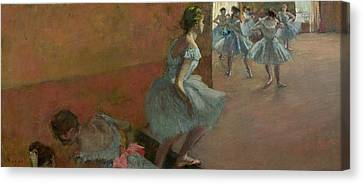 Dancers Ascending A Staircase Canvas Print by Edgar Degas