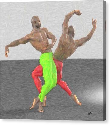 Dancers Assay Canvas Print by Quim Abella