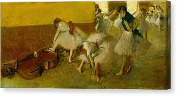 Dancers In The Green Room Canvas Print