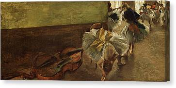 Dancers In The Rehearsal Room Canvas Print by MotionAge Designs