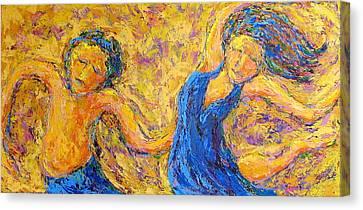 Dancers Canvas Print by Kat Griffin
