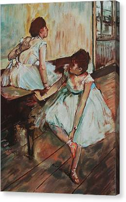 Dancers Canvas Print by Kevin Hopkins