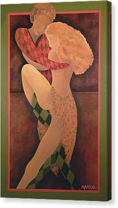 Dancers Canvas Print by Leslie Marcus