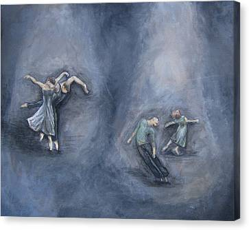 Dancers Canvas Print by Michelle Iglesias
