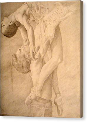 Dancers Canvas Print by Sarabeth Kett