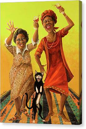 Dancin' Cause It's Tuesday Canvas Print by Shelly Wilkerson