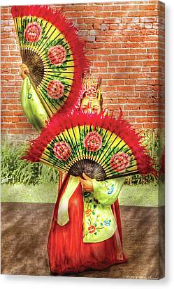 Dancing - The Fan Dance Canvas Print by Mike Savad