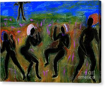Dancing A Deliverance Prayer Canvas Print by Angela L Walker