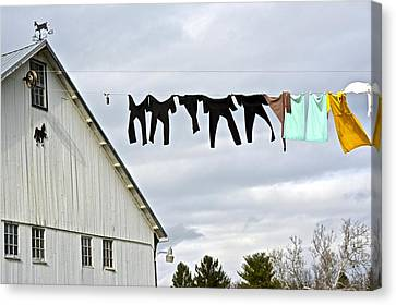 Dancing Amish Laundry Canvas Print