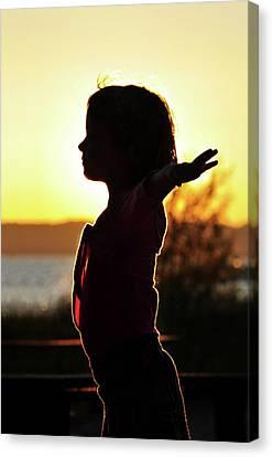 Dancing At Sunset Canvas Print