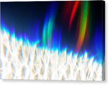 Canvas Print featuring the photograph Dancing At The North Pole by Greg Collins