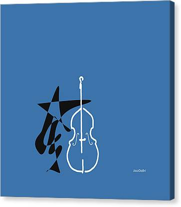 Dancing Bass In Blue Canvas Print