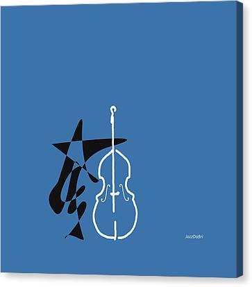 Dancing Bass In Blue Canvas Print by David Bridburg