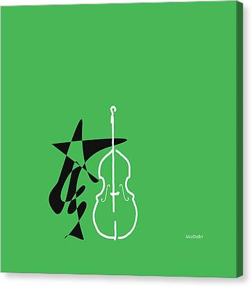 Dancing Bass In Green Canvas Print by David Bridburg