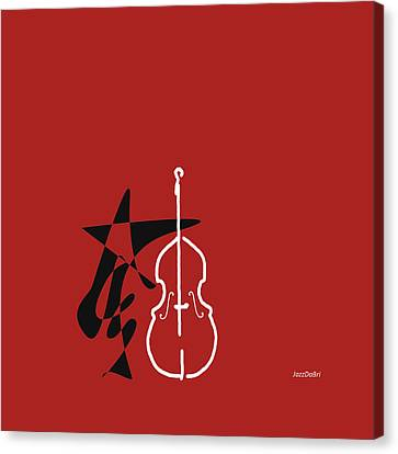 Dancing Bass In Orange Red Canvas Print